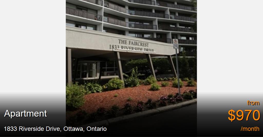 1833 Riverside Drive Ottawa Apartment For Rent B105646