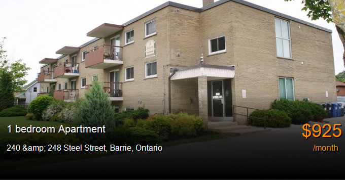 240 Amp 248 Steel Street Barrie Apartment For Rent B108976