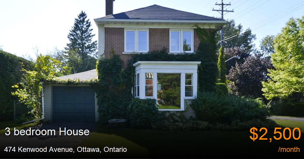 474 Kenwood Avenue Ottawa House For Rent B109221