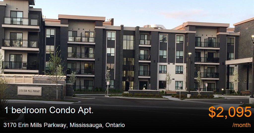 3170 erin mills parkway mississauga condo apt for rent - One bedroom condo for rent mississauga ...