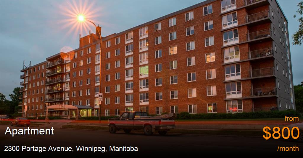 2300 Portage Avenue, Winnipeg - Apartment for Rent -B110455