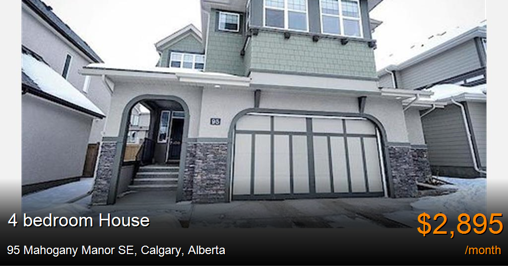 95 Mahogany Manor Se Calgary House For Rent B112477