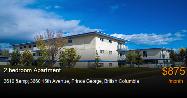 3610 3660 15th avenue prince george apartment for rent b114687 for 1 bedroom basement for rent in prince george