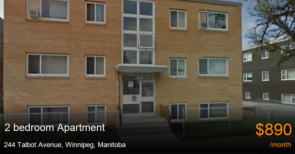244 talbot avenue winnipeg apartment for rent b116763 - One bedroom apartments in winnipeg ...