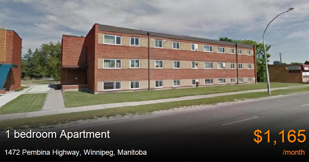1472 Pembina Highway Winnipeg Apartment For Rent B121364