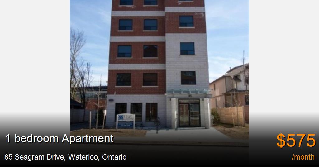 85 Seagram Drive, Waterloo - Apartment for Rent -B121365