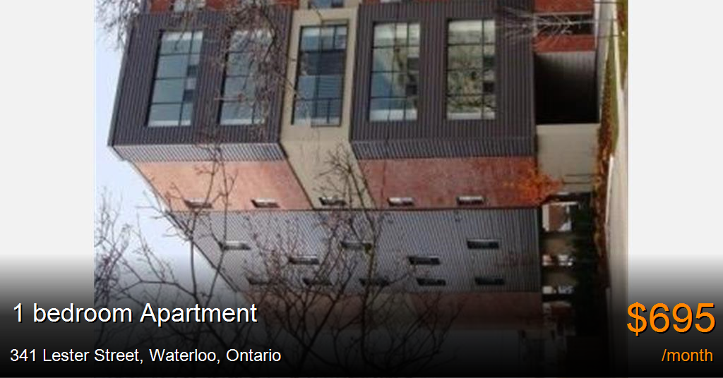 341 Lester Street, Waterloo - Apartment for Rent -B121406