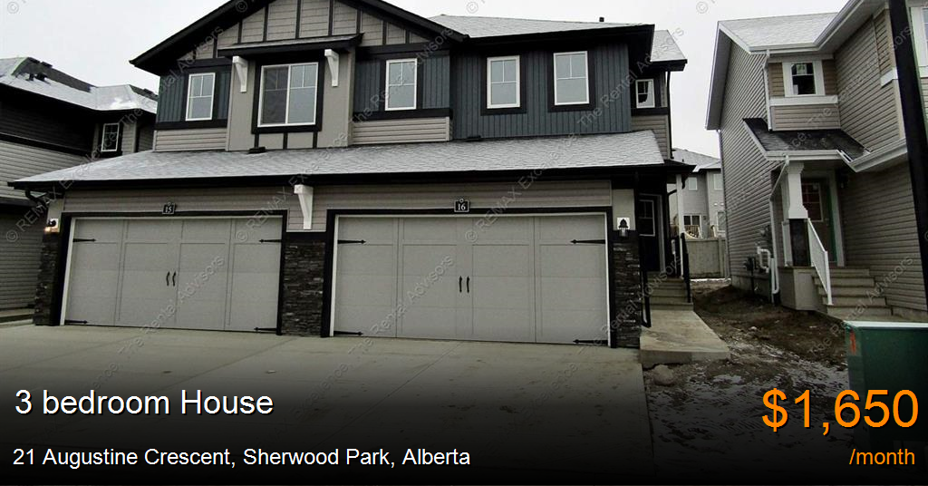 21 Augustine Crescent Sherwood Park House For Rent B125407