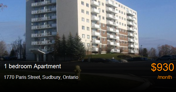 1770 Paris Street, Sudbury - Apartment for Rent -B125427