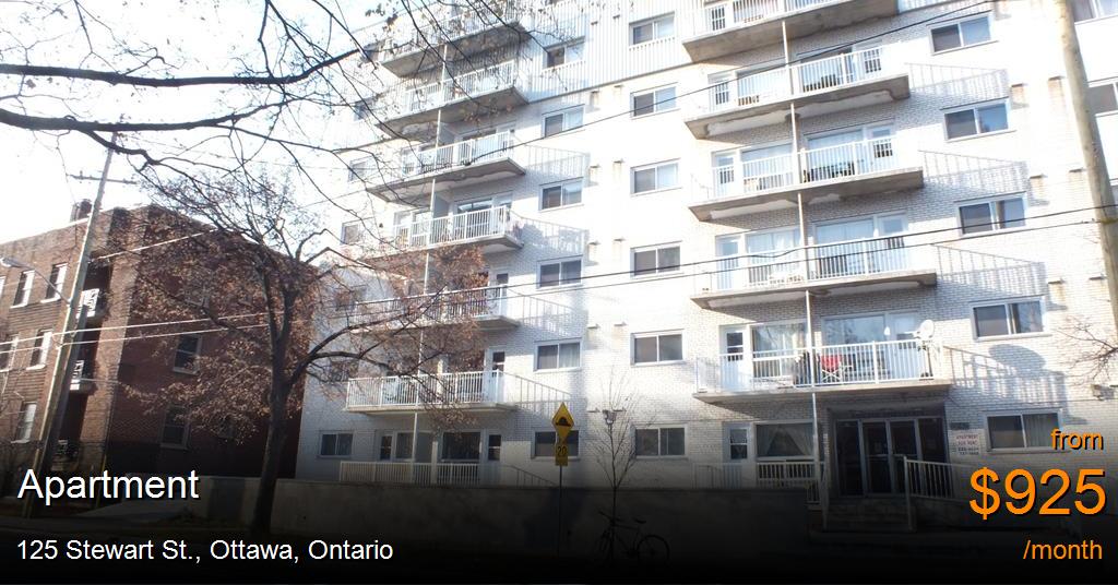 125 Stewart St Ottawa Apartment For Rent B126847