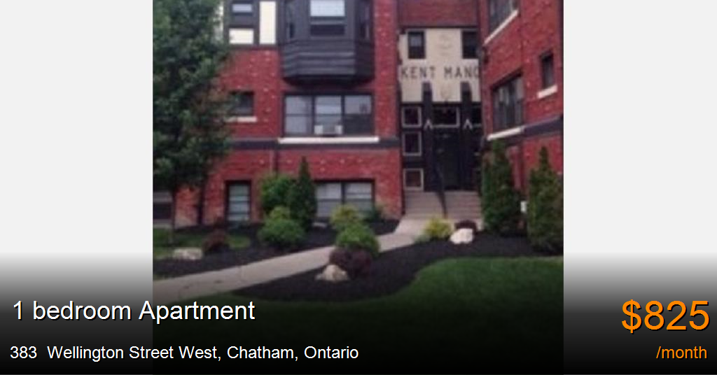 383 Wellington Street West Chatham Apartment For Rent