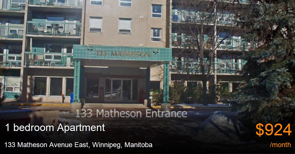 133 Matheson Avenue East Winnipeg Apartment For Rent