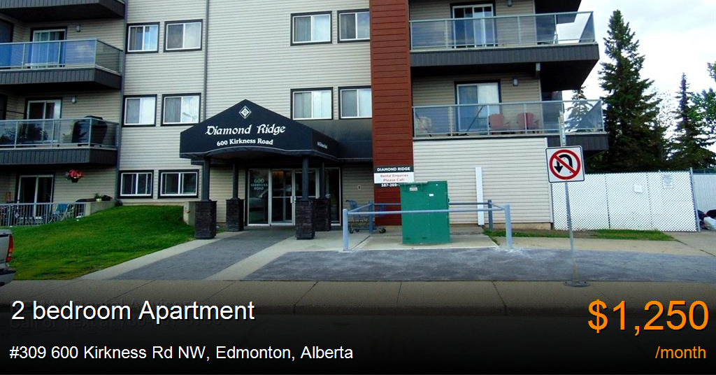 #309 600 kirkness rd nw, edmonton - Apartment for Rent