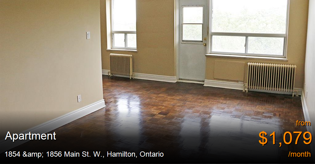 1854 Amp 1856 Main St W Hamilton Apartment For Rent B27689