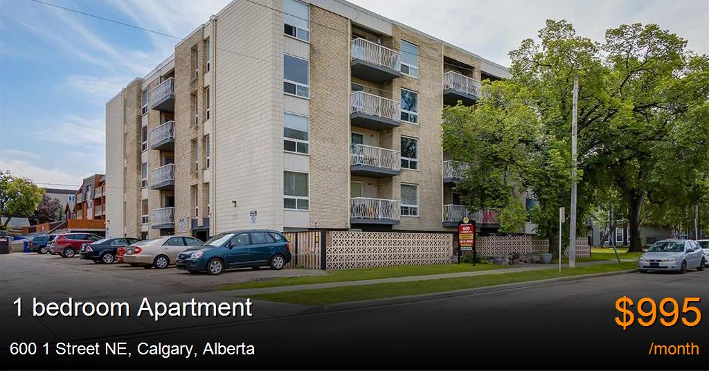600 1 Street NE, Calgary - Apartment for Rent