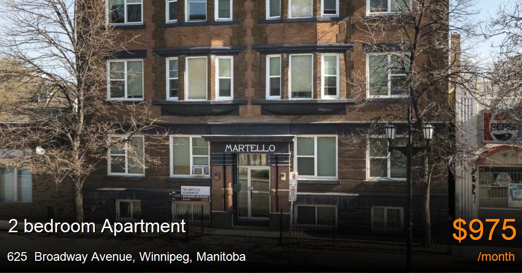 625 Broadway Avenue Winnipeg Apartment For Rent B30762