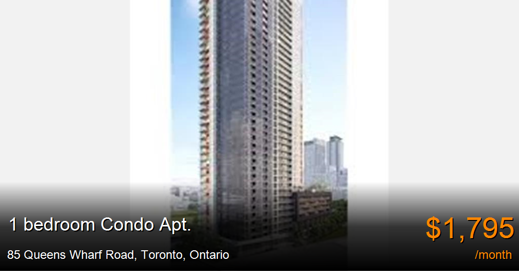 85 Queens Wharf Road Toronto Condo Apt For Rent B33185