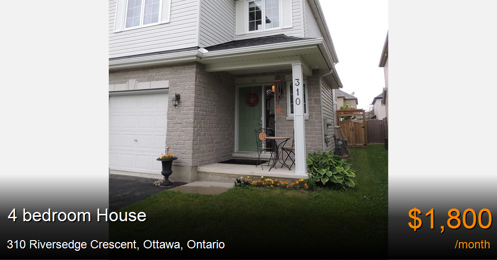 310 Riversedge Crescent Ottawa House For Rent B36048