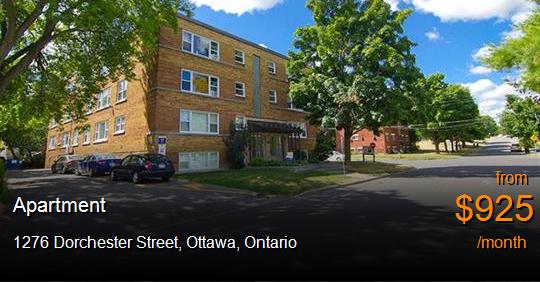 1276 Dorchester Street Ottawa Apartment For Rent B37854