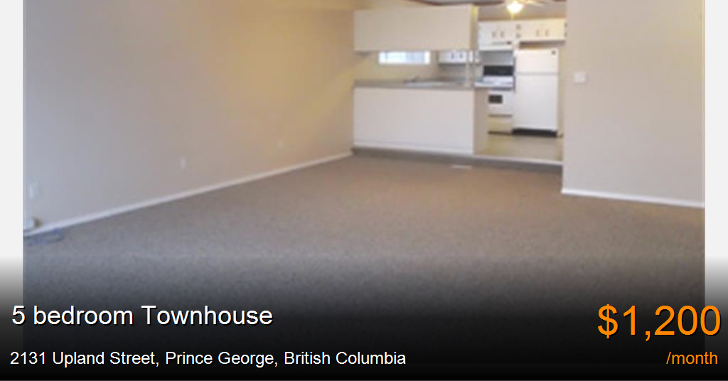 2131 upland street prince george townhouse for rent b43420 for 1 bedroom basement for rent in prince george