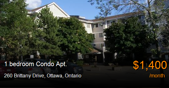 260 Brittany Drive Ottawa Condo Apt For Rent B51519