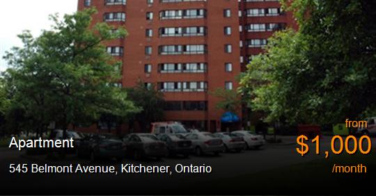 545 Belmont Avenue Kitchener Apartment For Rent