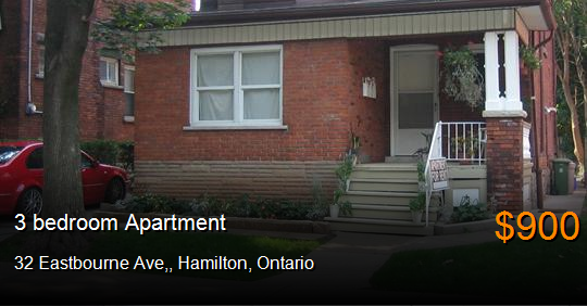 32 Eastbourne Ave Hamilton Apartment For Rent B67824