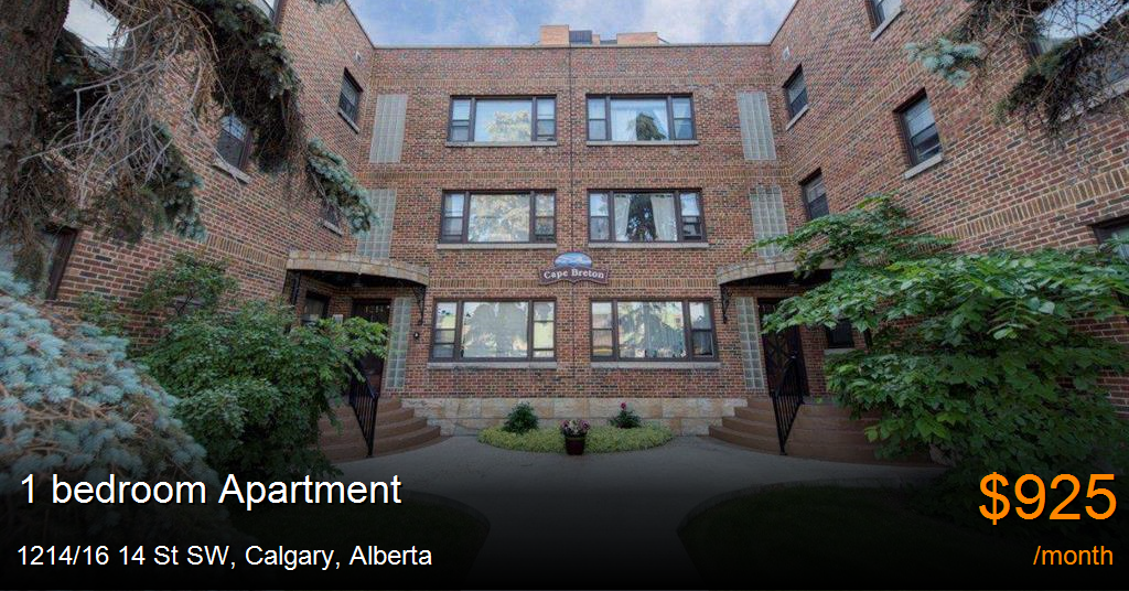 1214/16 14 st sw, calgary - Apartment for Rent