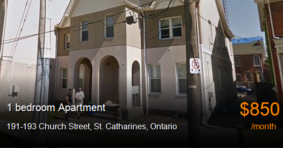 191-193 church street, st. catharines - Apartment for Rent