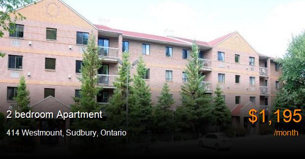 414 Westmount Sudbury Apartment For Rent B84120