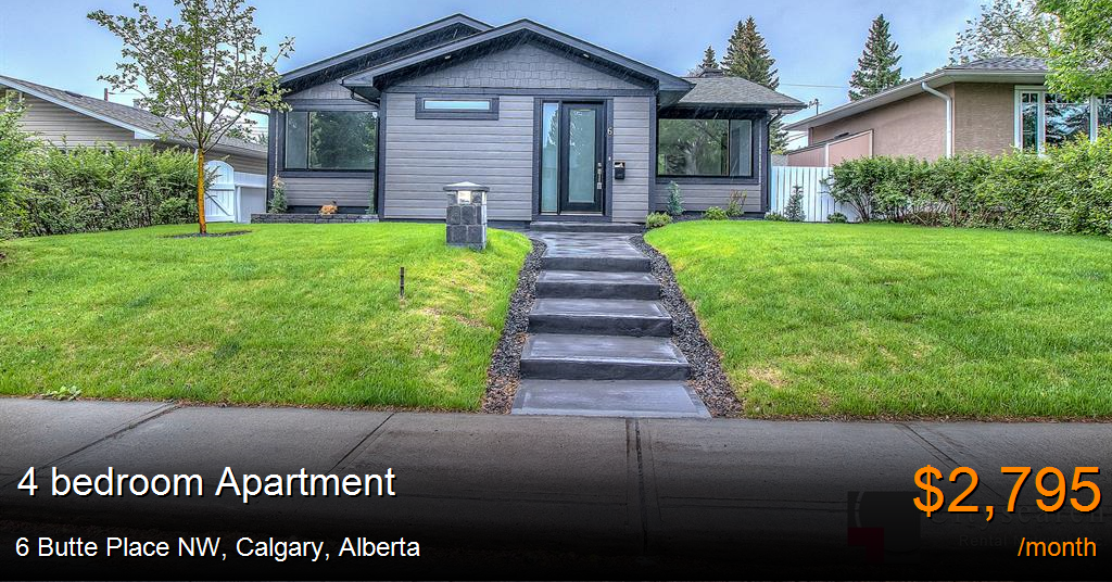 6 butte place nw, calgary - Apartment for Rent