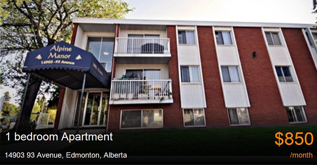 14903 93 Avenue, Edmonton - Apartment for Rent -B94784
