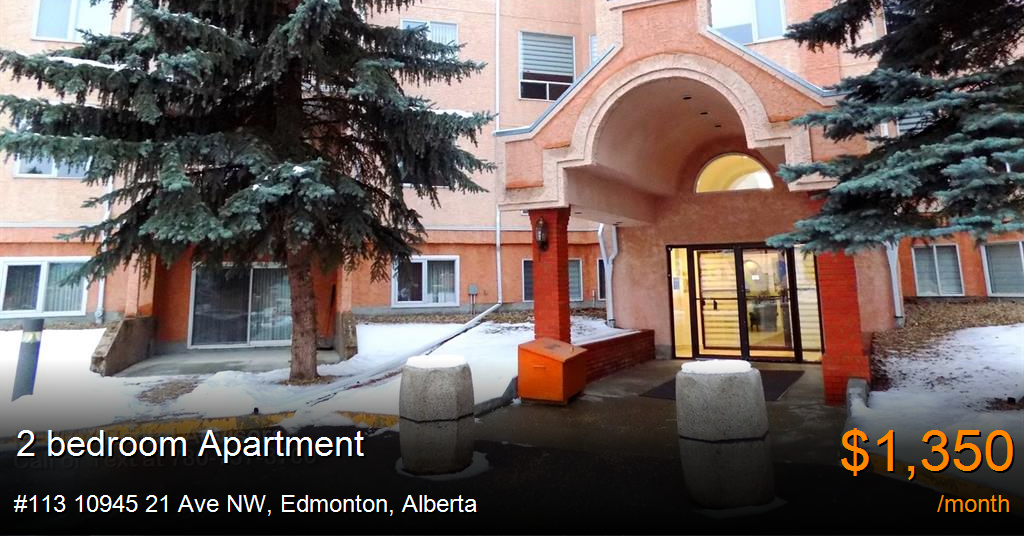 #113 10945 21 Ave NW, Edmonton - Apartment for Rent