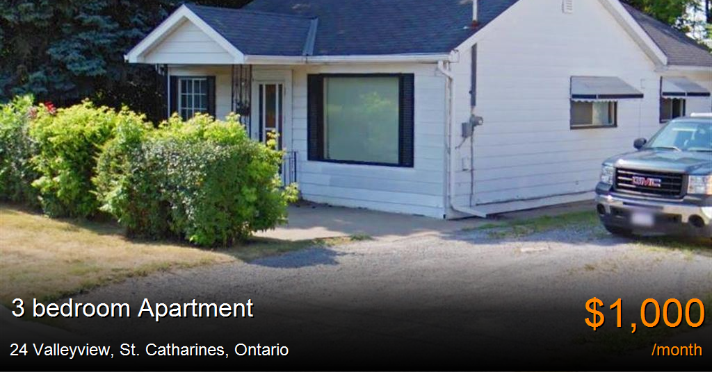 Bedroom Apartments For Rent St Catharines